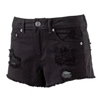 Mudd® Distressed High-Waisted Shortie Shorts - Juniors