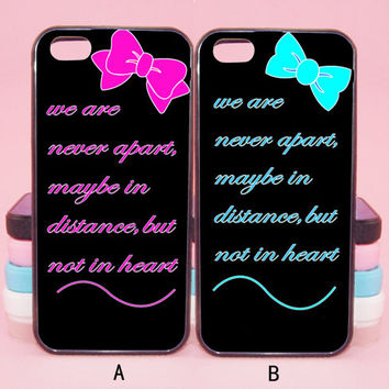 Best Friend Couple Case,we're never apart,iPod touch5,iPhone 5s/ 5c/5/4S/4 ,Samsung Galaxy S3/S4/S5/S3 mini/S4 mini/S4 active/Note 2/Note 3