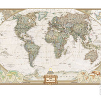 World Political Map, Executive Style Art Print at Art.com
