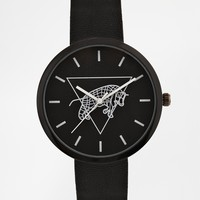ASOS Watch With Graphic Face - Black