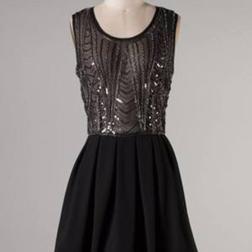 Brighton Black Sequin Dress