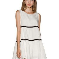 White Stripe Babydoll dress