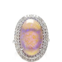 One Of A Kind Violet Lightning Ridge Opal Ring by Nina Runsdorf - Moda Operandi