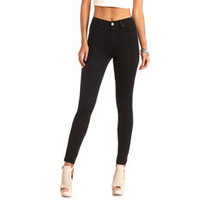 "REFUGE ""HI-RISE SKINNY"" BLACK HIGH-WAISTED JEANS"