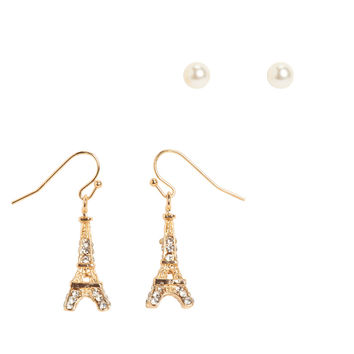 Tour Eiffel Hook & Stud Earring 2-Pack