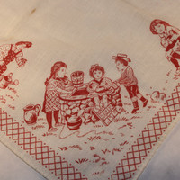 Nostalgic Antique Handkerchief of Days Gone By