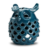 "Product: 8.5""H - Indigo Night Owl Lantern -"