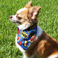 Comic Action Words Dog Bandanna