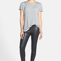 Distressed Foil Ponte Leggings
