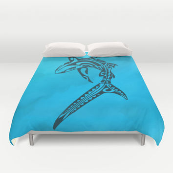 Sharked Duvet Cover by Texnotropio