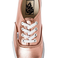 The Authentic Sneaker in Rose Gold Glitter Leather