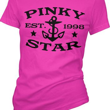 "Women's ""Pinky Star Established"" Tee by Pinky Star (Pink)"