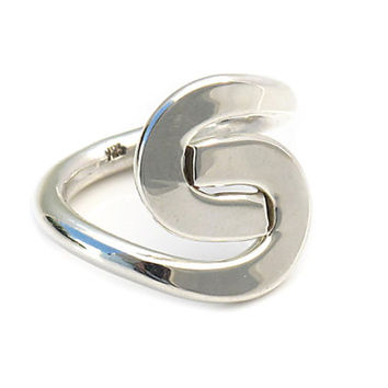 Plain sterling silver ring | Plain S | Mexican handmade women silver jewelry | Stamped | 925 | Mexico | Cute rings | 0209