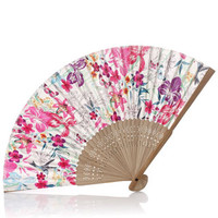 Floral Garden Printed Fan | Multi | Accessorize