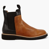 Maison Martin Margiela 22 Men's Contrasting Vegetable Tanned Leather Boots