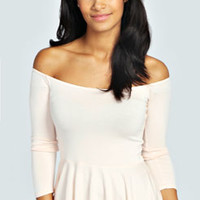 Paige Off The Shoulder Peplum Top