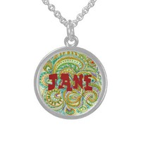 Folk Art Name Pendant from Zazzle.com