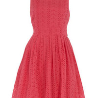 Coral broderie sundress - New In Dresses - Dresses - Dorothy Perkins