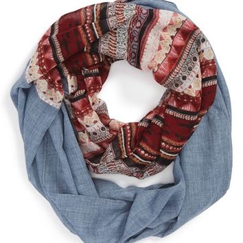 BP. Patchwork and Chambray Infinity Scarf