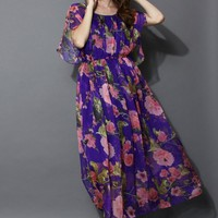 Blooming Paradise Frilling Maxi Dress