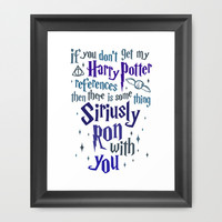 Harry Potter References Framed Art Print by LookHUMAN