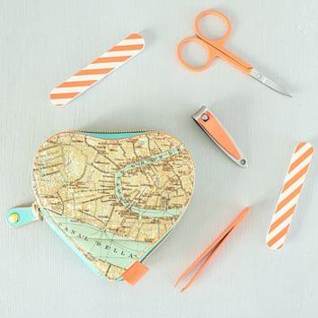 Venice Map Heart Manicure Set