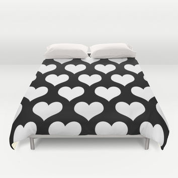 Love Black & White Duvet Cover by BeautifulHomes | Society6