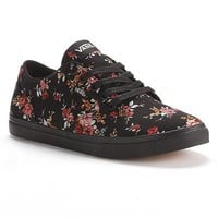 Vans White Winston Floral Skate Shoes - Women