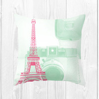 Cameras In Paris Cushion