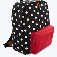 Black & Red Canvas Zip Backpack