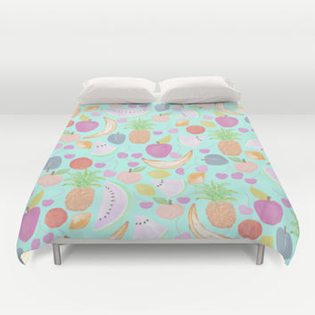 Fruit Punch Light Duvet Cover by Lisa Argyropoulos | Society6