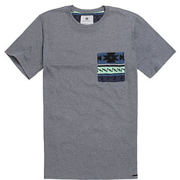 On The Byas Brett Pieced Crew T-Shirt - Mens Tee - Gray -