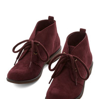 ModCloth Tour Date Bootie in Plum