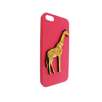 Cute Giraffe 3d  Wood For Iphone 5, Iphone 4/4s