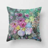 The Garden Throw Pillow by RokinRonda