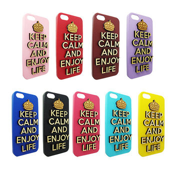 Keep calm and enjoy life 3d  Wood  typography For Iphone 5, Iphone 4/4s