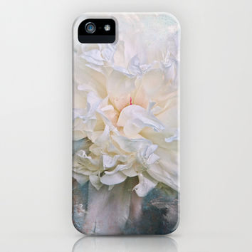 Abstract Peony in Blue iPhone & iPod Case by Jai Johnson