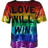 ASHISH | Love Will Win Sequinned Top | Browns fashion & designer clothes & clothing