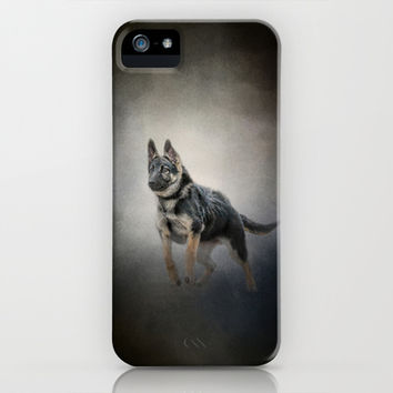 Feet First - German Shepherd Puppy iPhone & iPod Case by Jai Johnson
