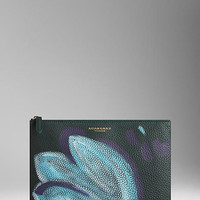 Large Hand-Painted Leather Beauty Wallet