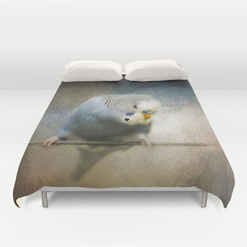 The Budgie Collection - Budgie 3 Duvet Cover by Jai Johnson
