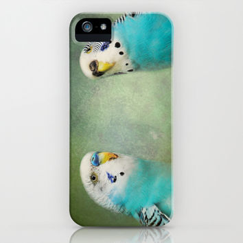 The Budgie Collection - Budgie Pair iPhone & iPod Case by Jai Johnson