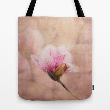 Pink Magnolia II - Flower Art Tote Bag by Jai Johnson