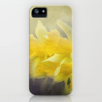 Out of the Darkness - Daffodil Flowers iPhone & iPod Case by Jai Johnson