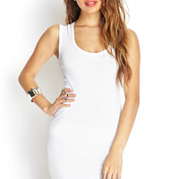 Ribbed Knit Cutout Dress