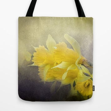 Out of the Darkness - Daffodil Flowers Tote Bag by Jai Johnson