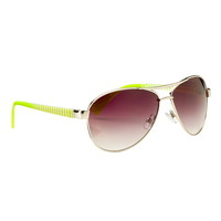 Striped side aviator sunglasses