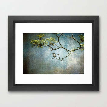 Lucky Bird Framed Art Print by Jai Johnson