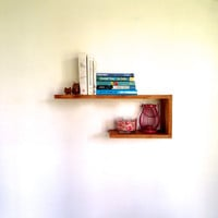 Kilter Wall Shelf - Floating Wall Shelf - Bookshelf