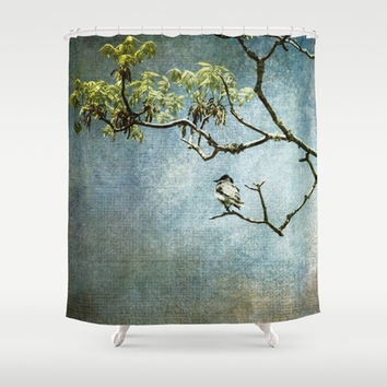 Lucky Bird Shower Curtain by Jai Johnson